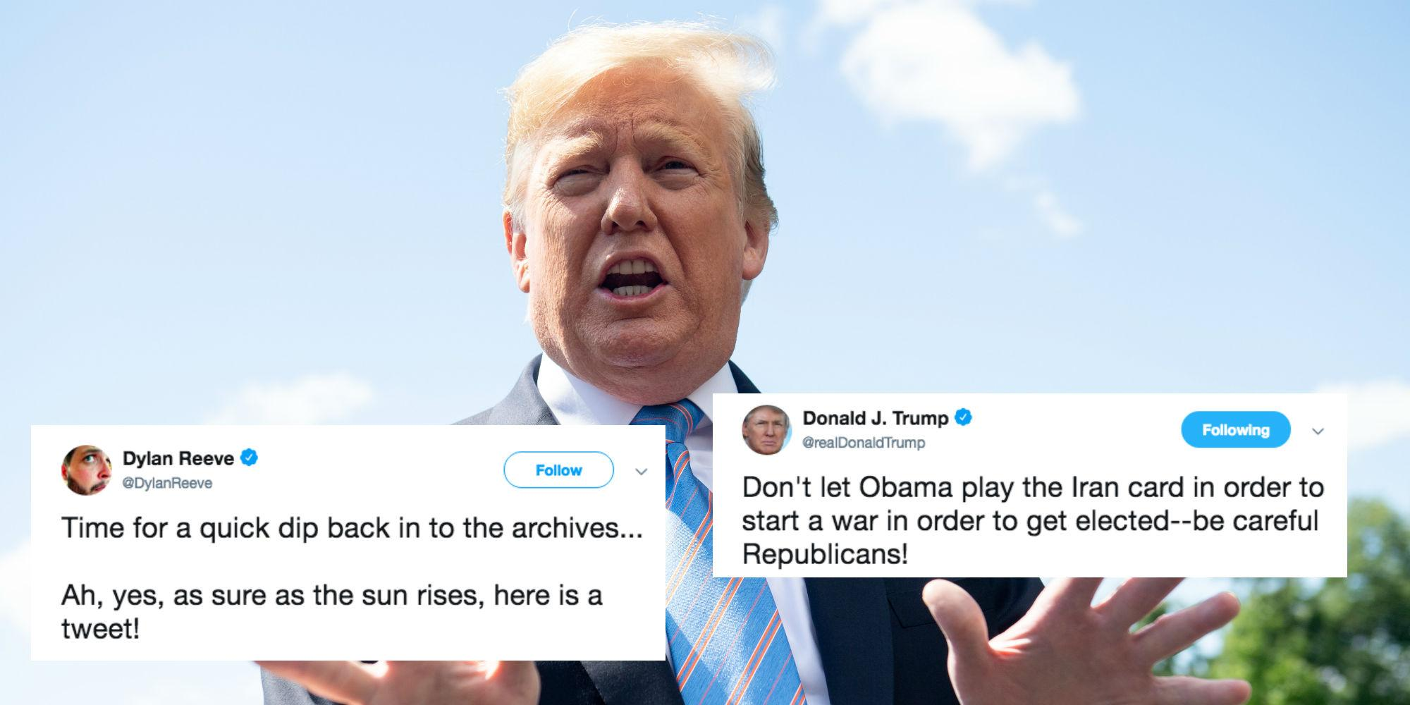 US-Iran Tensions: Trump Tweet From 2012 About Possible War