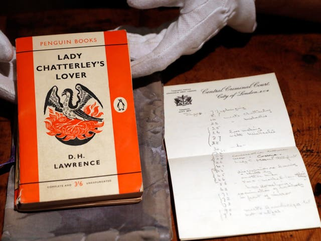 A copy of D.H Lawrence's book 'Lady Chatterley's Lover' that was the judge's personal version used in the infamous 1960 obscenity trial