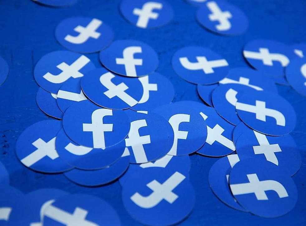Paper circles with the Facebook logo are displayed during the F8 Facebook Developers conference on 30 April, 2019 in San Jose, California