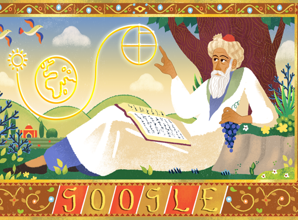 Omar Khayyam is remembered with a Google Doodle (Google)