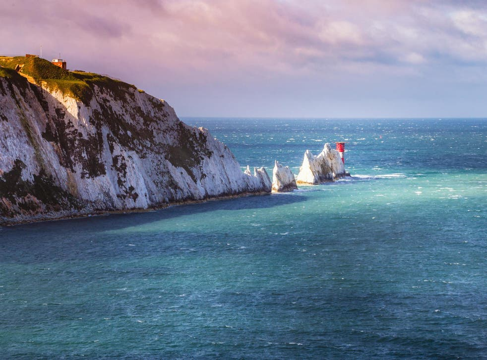 The sea mine was caught by fishermen near the Needles off the Isle of Wight