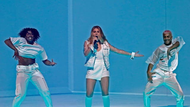 """Malta's Michela performs the song """"Chameleon"""" during the Grand Final of the 64th edition of the Eurovision Song Contest 2019 on 18 May in Tel Aviv."""