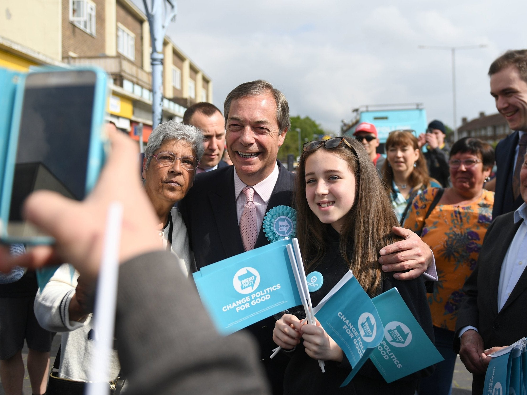 Brexit Party overtakes Tories in poll of general election voting intentions