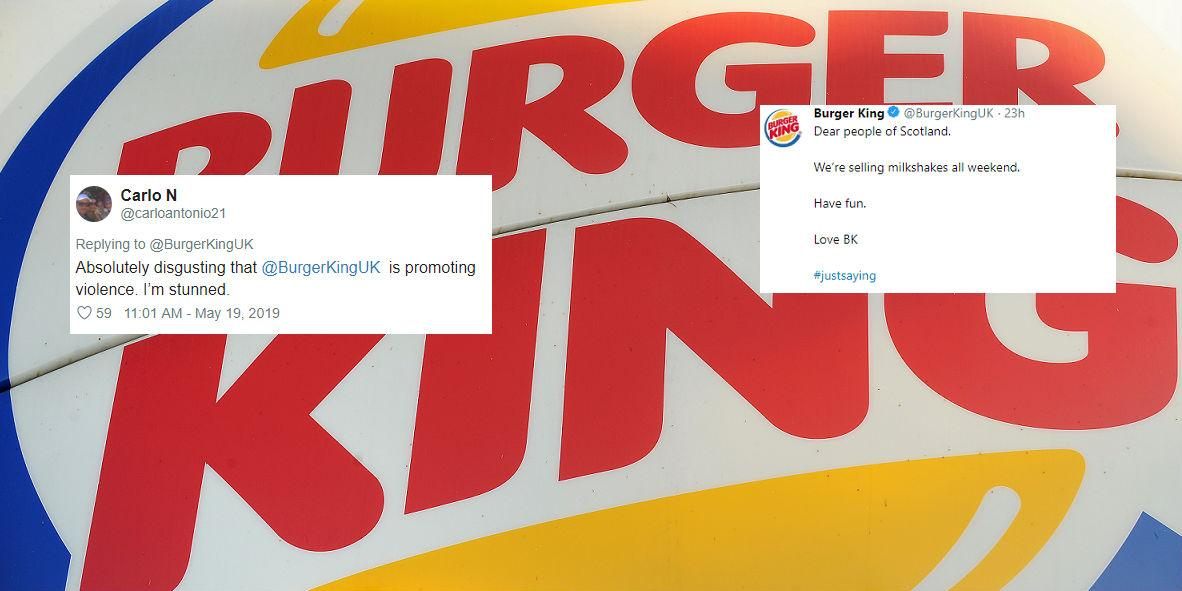 Burger King deny trying to 'endorse violence against Nigel
