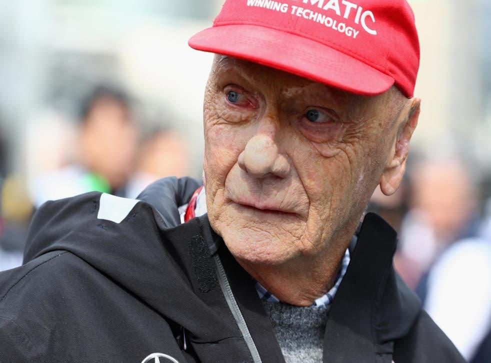 Lauda at the 2018 Azerbaijan F1 Grand Prix at Baku City Circut