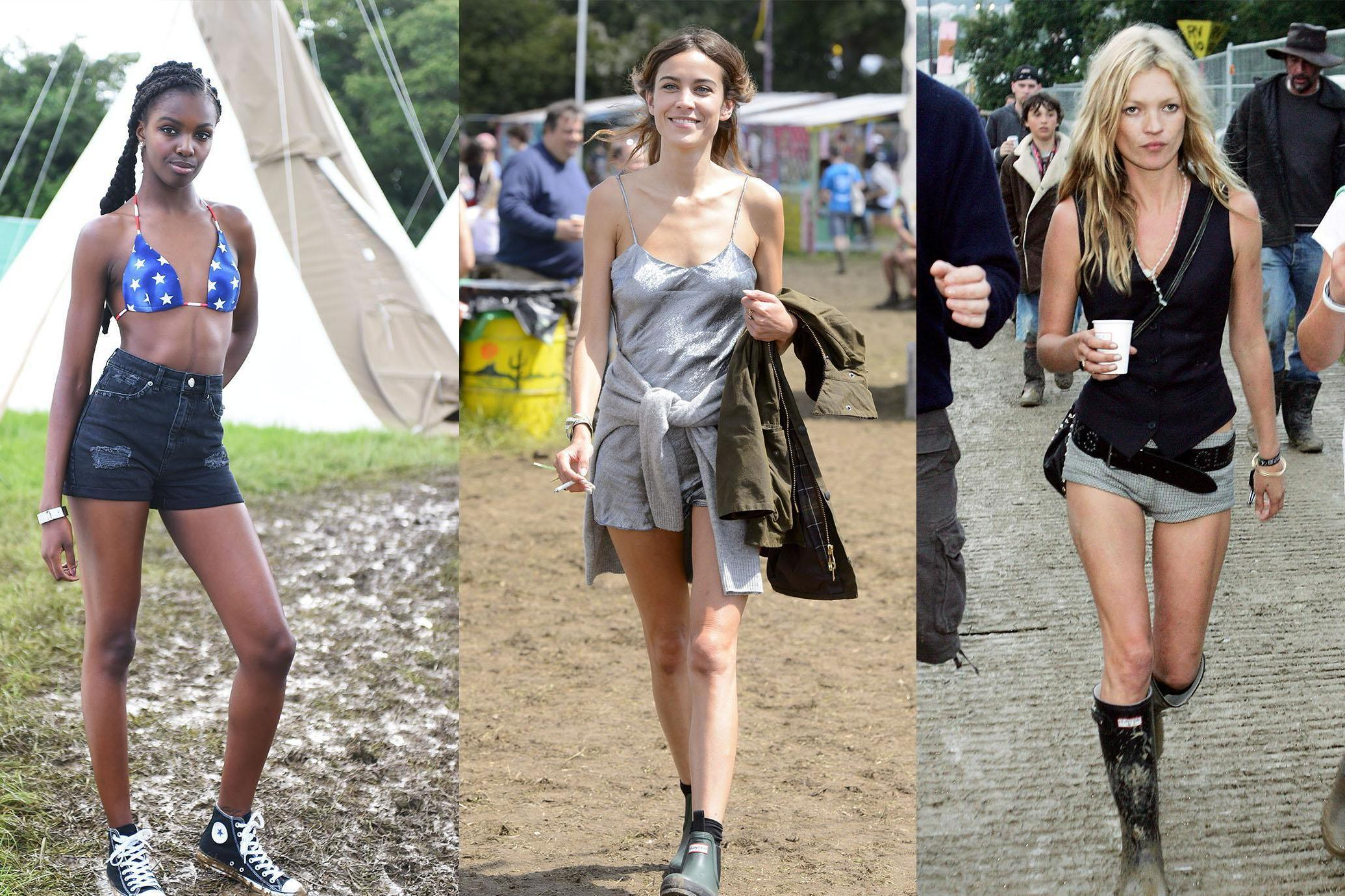 Glastonbury 50th anniversary: Best looks of all time, from Kate Moss to Alexa Chung