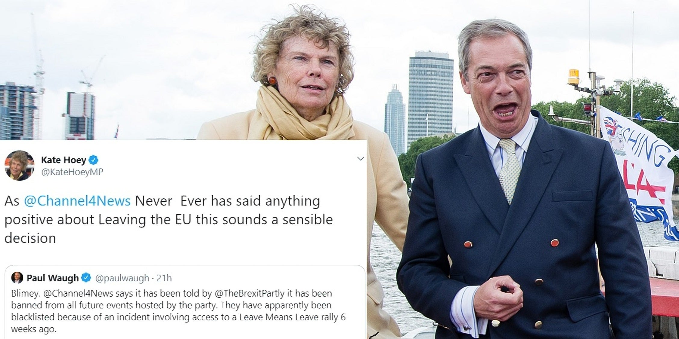 Nigel Farage: Labour MP Kate Hoey backs the Brexit Party's