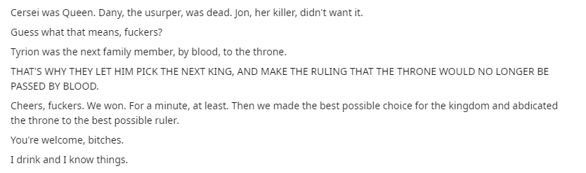 Reddit Game of Thrones theory suggests fans are wrong about