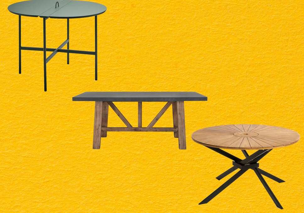 Fine Best Outdoor Table That Is Weatherproof Easy To Clean And Creativecarmelina Interior Chair Design Creativecarmelinacom