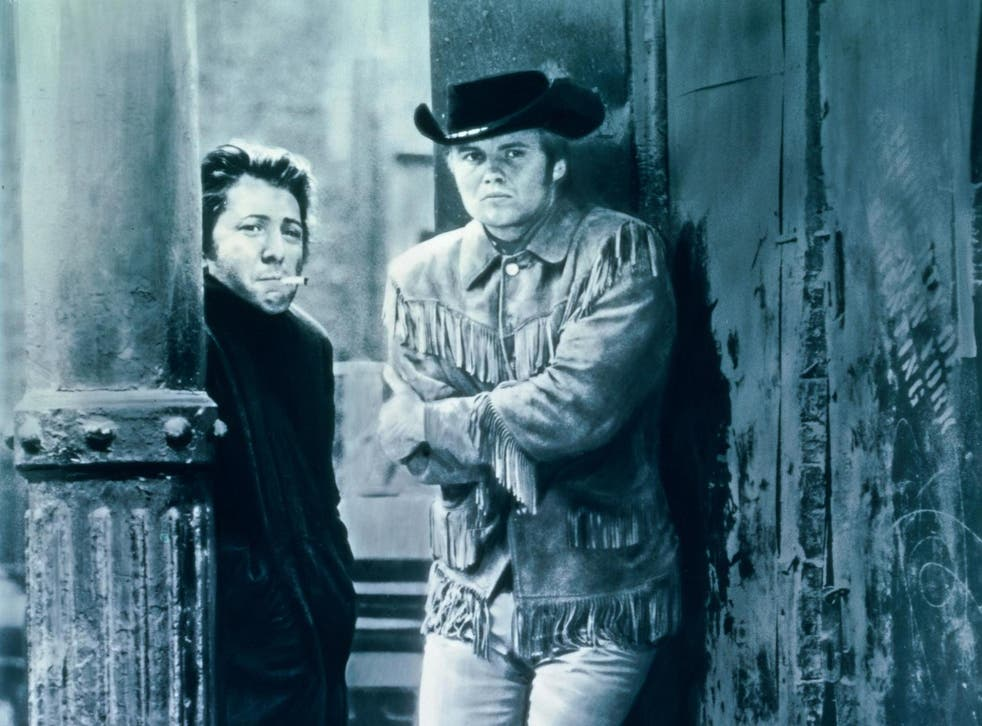 Going where the weather suits my clothes: Dustin Hoffman and Jon Voight in 'Midnight Cowboy'