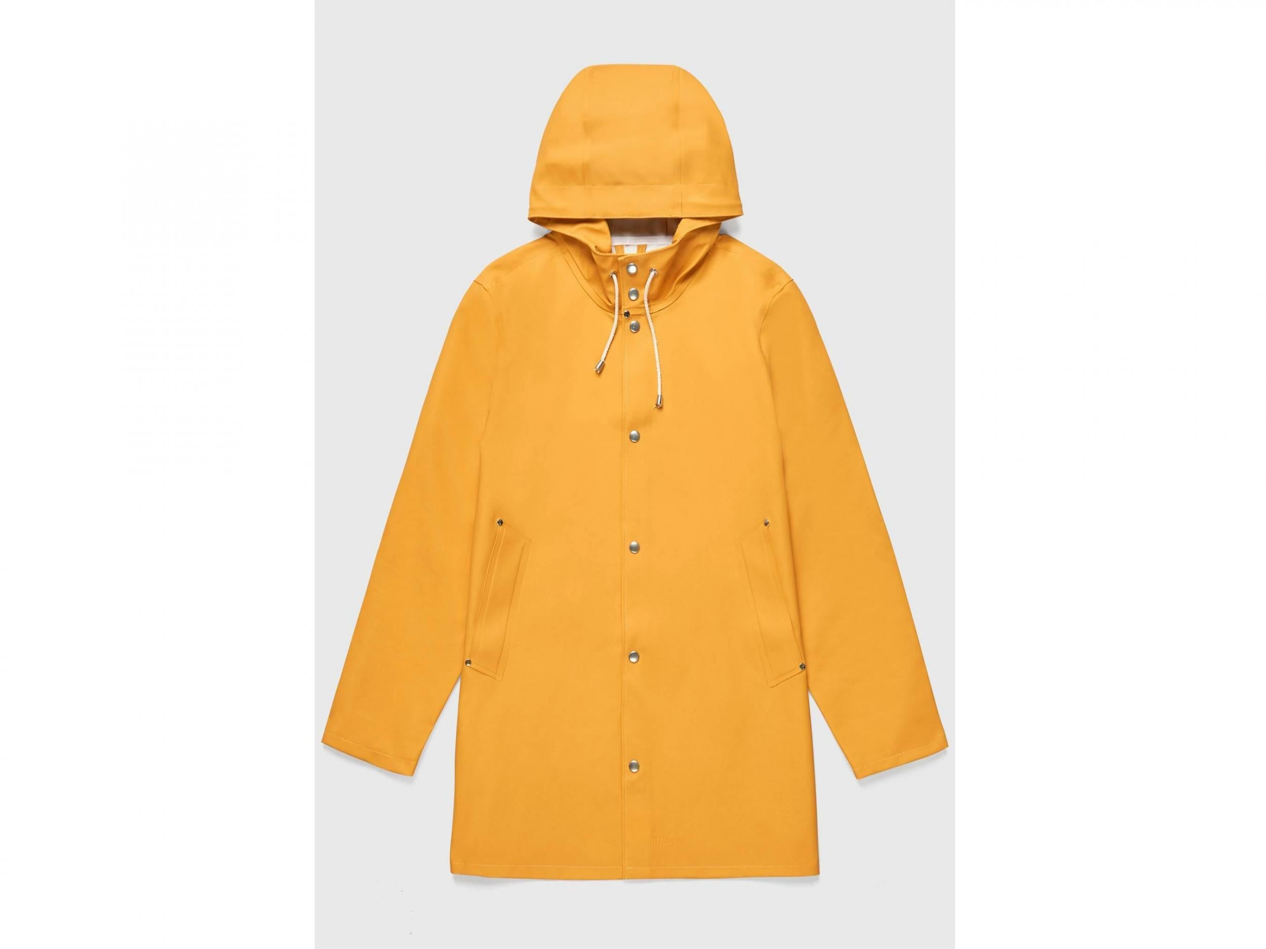 NEW TOP QUALITY PVC BOMBER JACKET STYLE FESTIVAL RAINCOAT CLEAR YELLOW MEDIUM