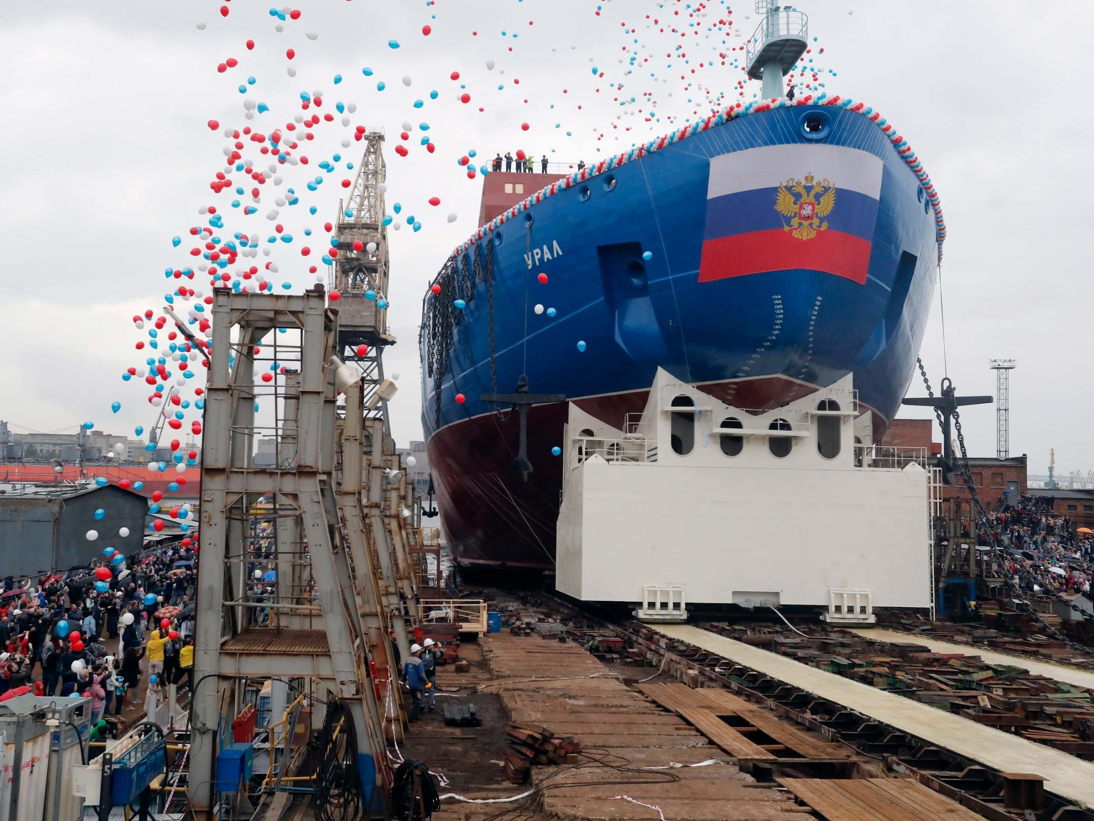 Russia launches world's largest nuclear-powered icebreaker to open up Arctic shipping routes