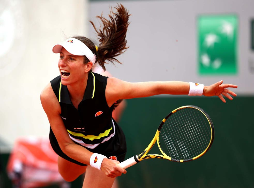 Johanna Konta won in straight sets in an hour and 19 minutes