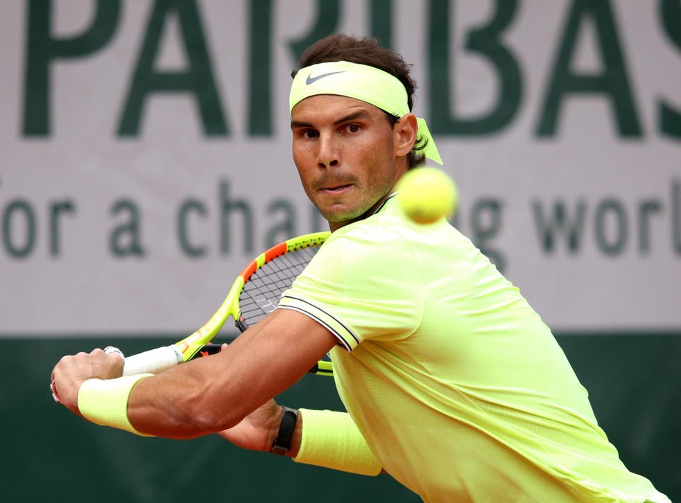 The second seed is hunting a 12th French Open title