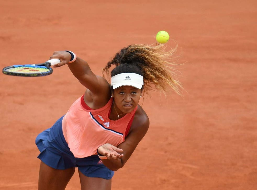 Naomi Osaka is in French Open action on day three
