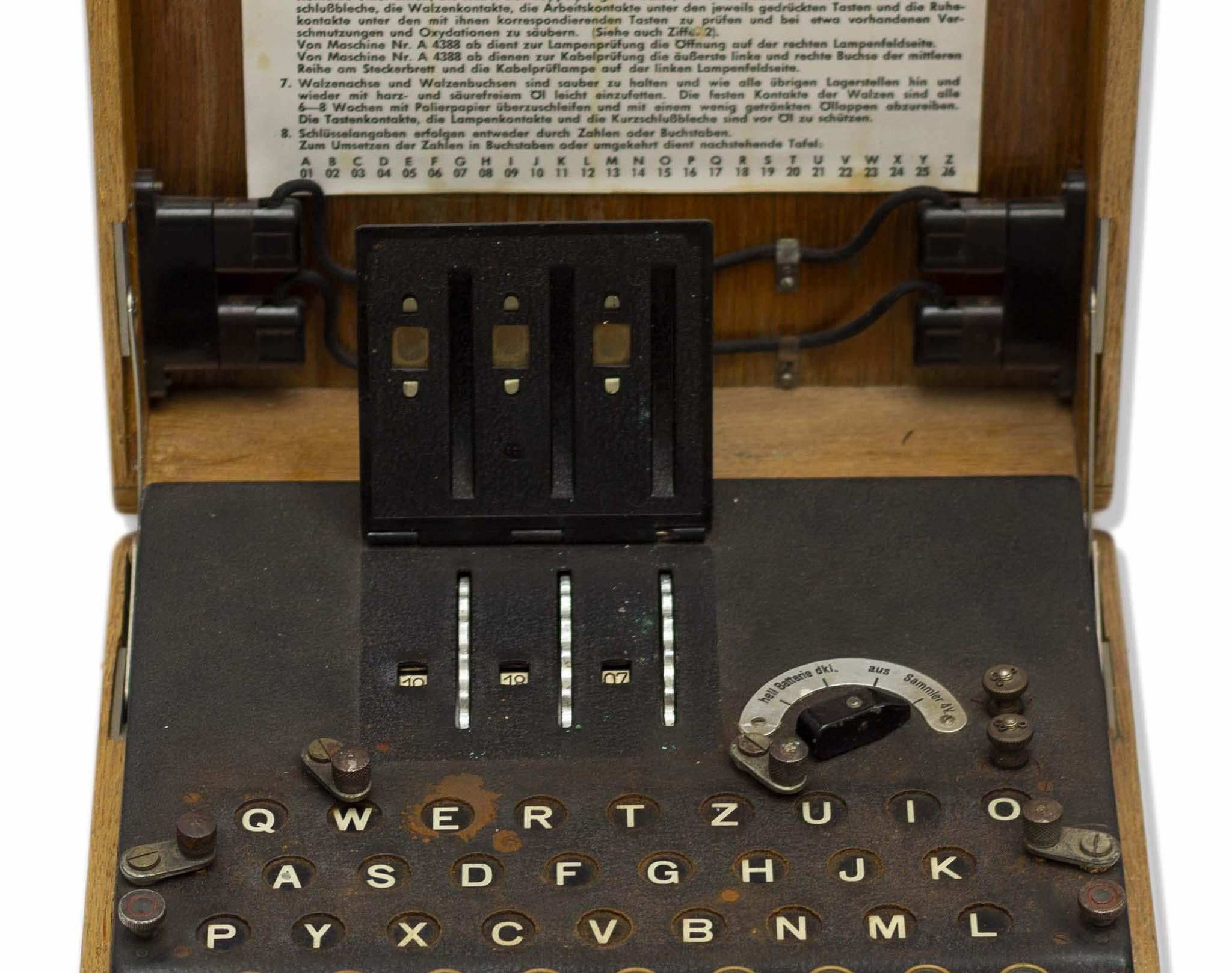 Rare enigma machine with original parts goes on sale