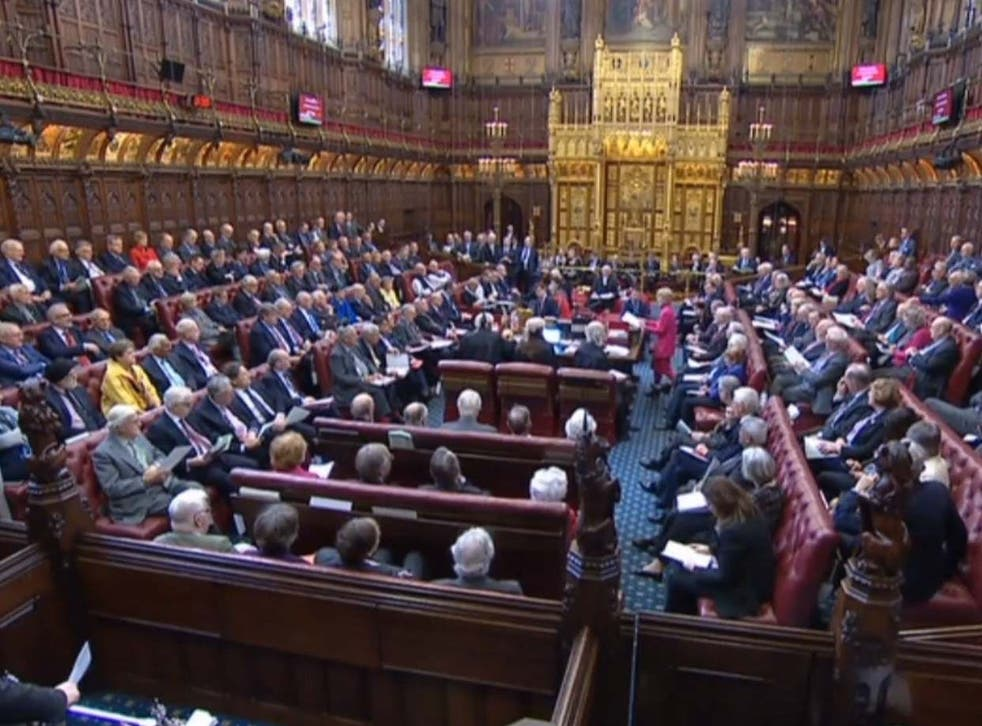 Baroness Hayter of Kentish Town speaking to peers in the House of Lords.