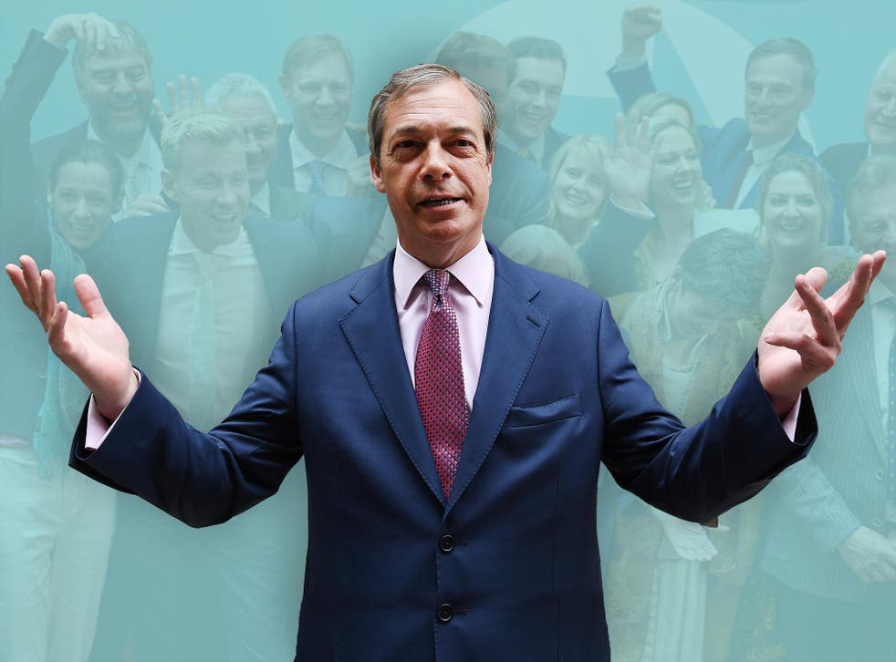 Is the Brexit Party leader not going anywhere, or is he not going anywhere?