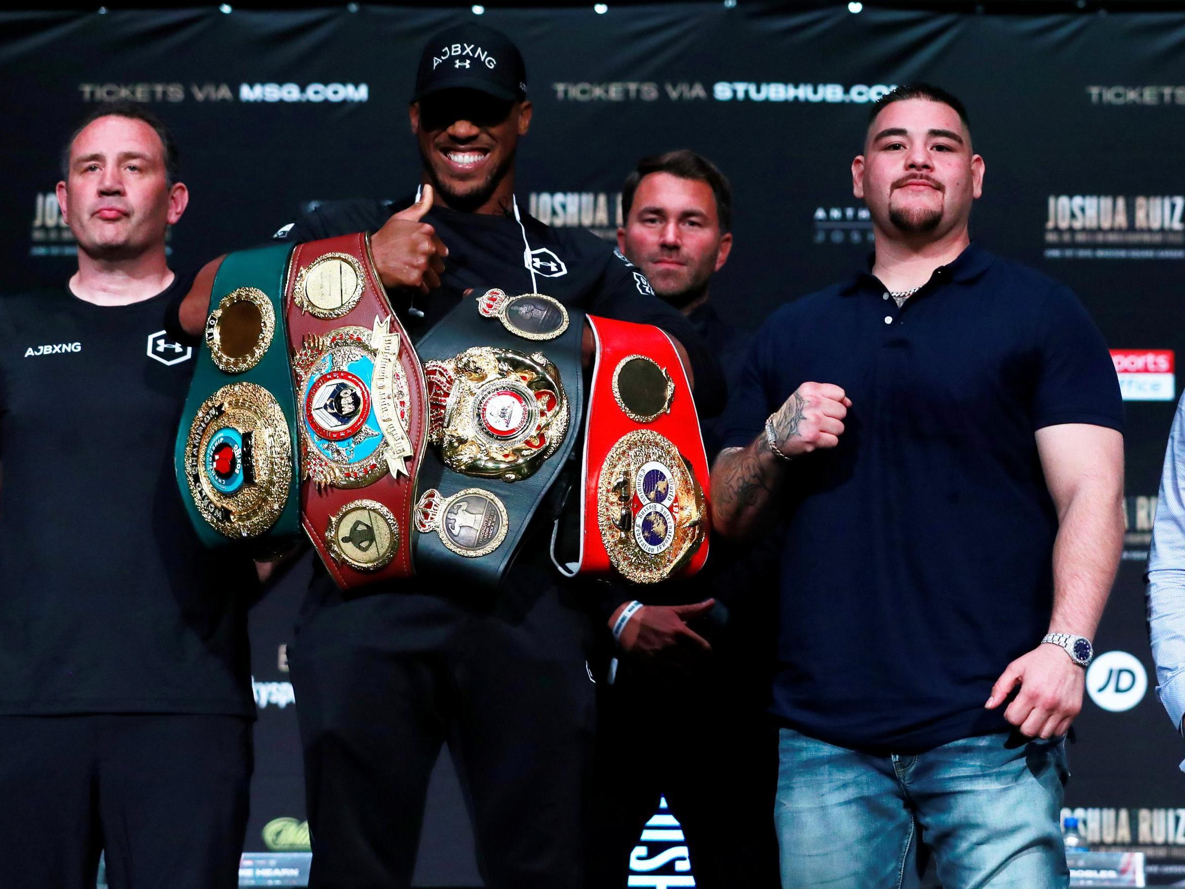 Joshua vs Ruiz: TV channel information, fight time tonight