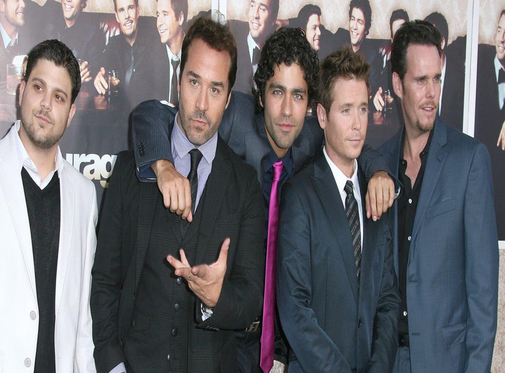 Jerry Ferrera, Jeremy Piven, Adrian Grenier, Kevin Connolly and Kevin Dillon, stars of Entourage