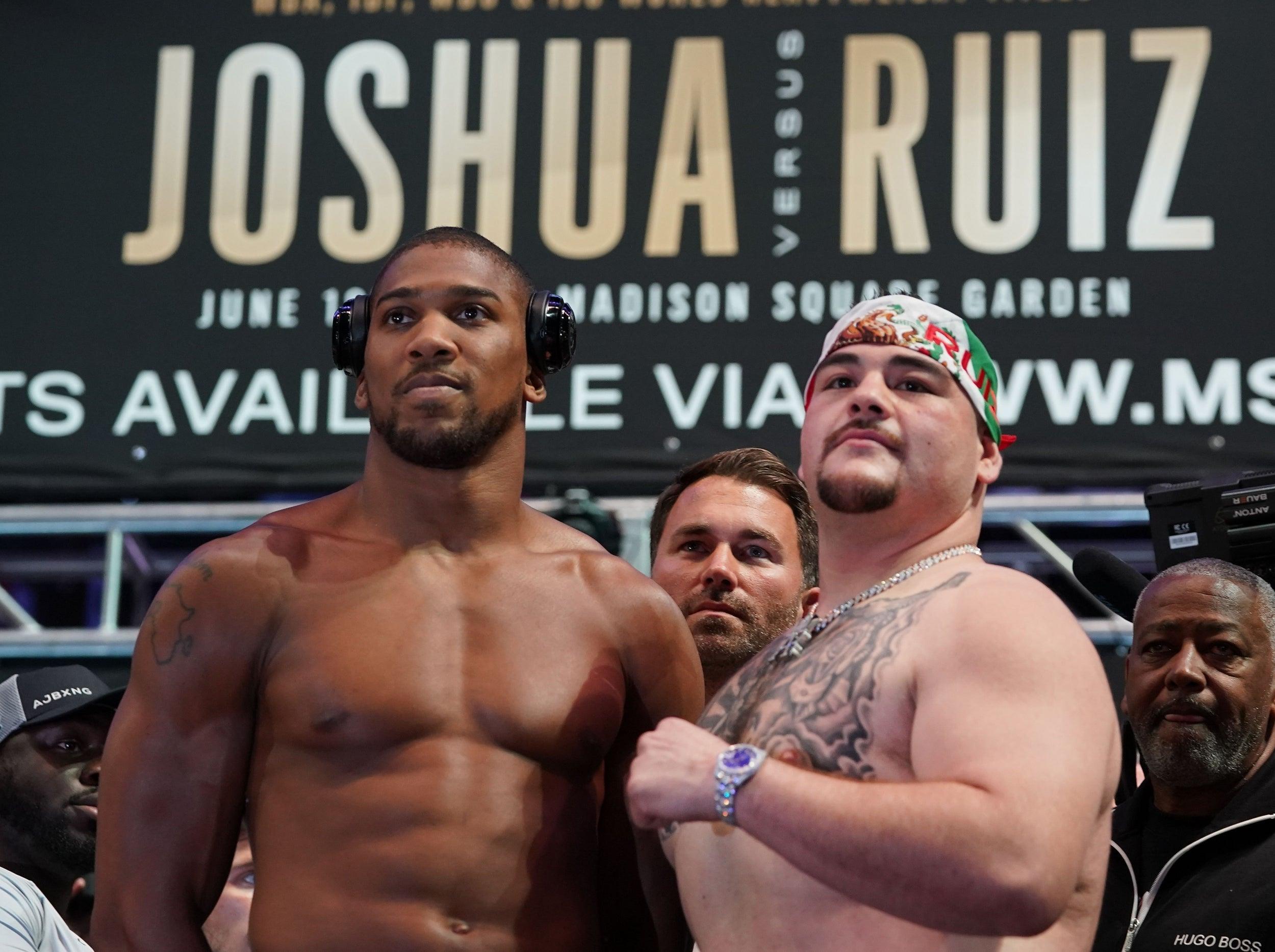 Joshua vs Ruiz LIVE: Fight time, stream, latest updates, what TV