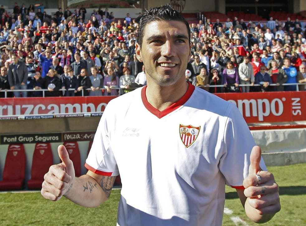 Reyes in Sevilla colours in January 2012: he first joined the club as a precocious 10-year-old