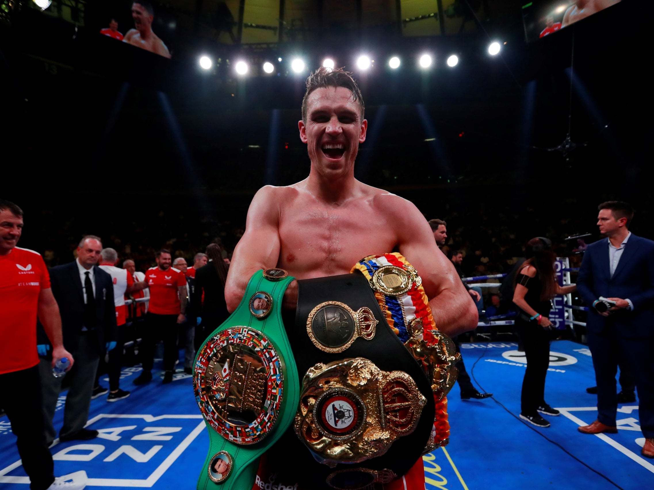 Callum Smith vs Hassan N'Dam fight result: Liverpool boxer powers through first title defence | The Independent | The Independent