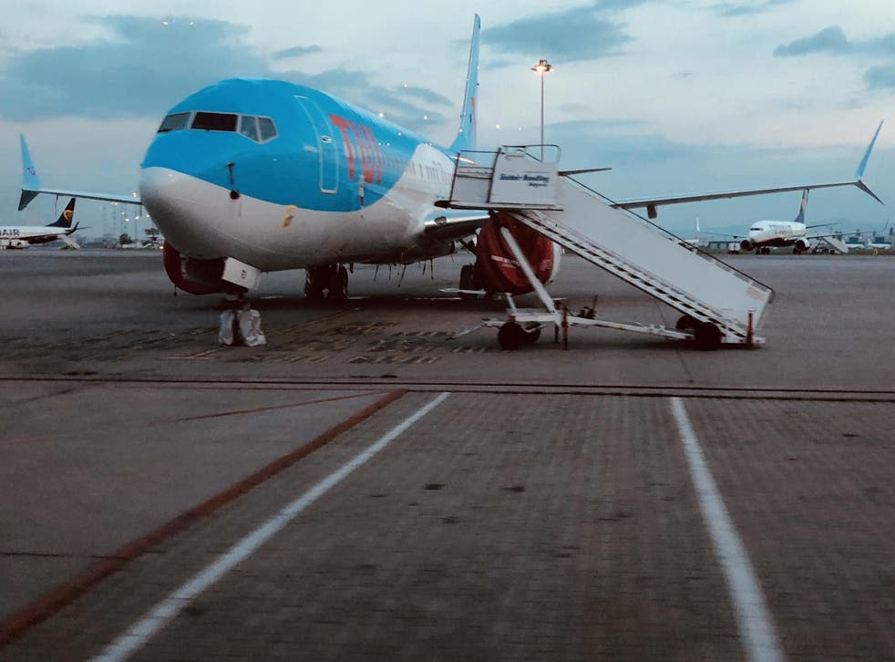 Ground stop: Tui Airways Boeing 737 Max at Sofia airport in Bulgaria