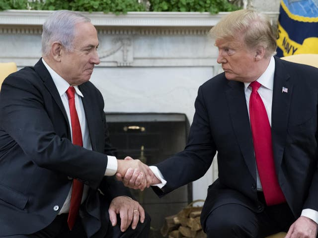 Mike Pompeo describes Trump's Middle East peace deal as 'un-executable', months after president controversially recorgnises Golan Heights as Israeli territory