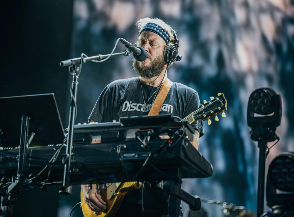 Justin Vernon of Bon Iver performing at All Points East Festival