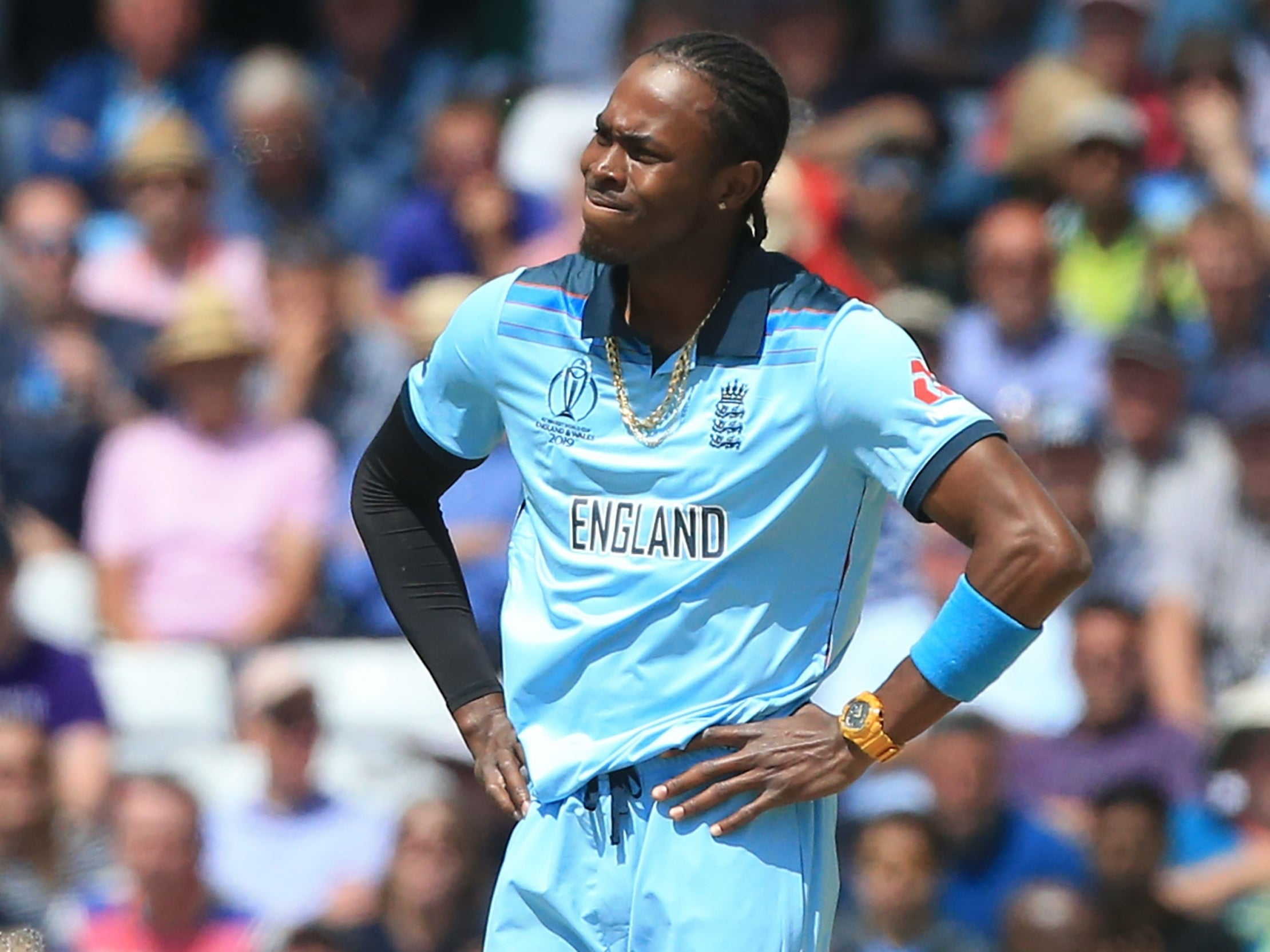 Cricket World Cup 2019: England's Jason Roy and Jofra Archer fined after breaching ICC rules in defeat by Pakistan