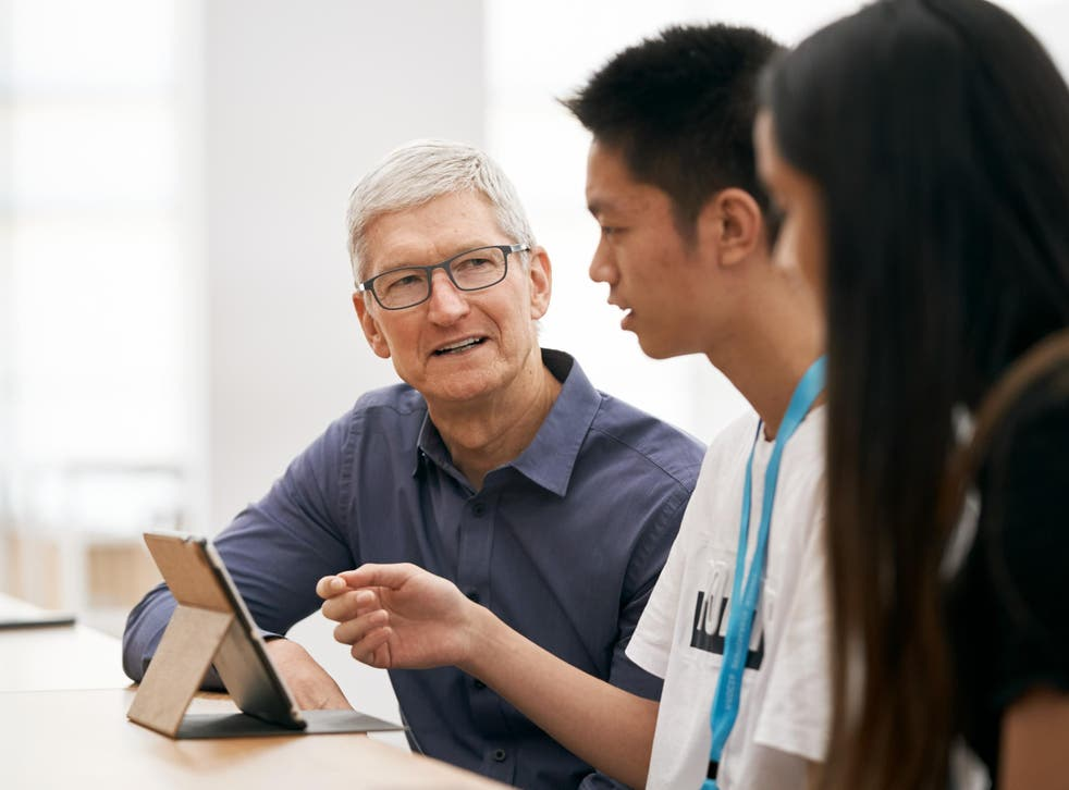 Apple CEO Tim Cook met with app scholarship winners ahead of the firm's annual developer conference