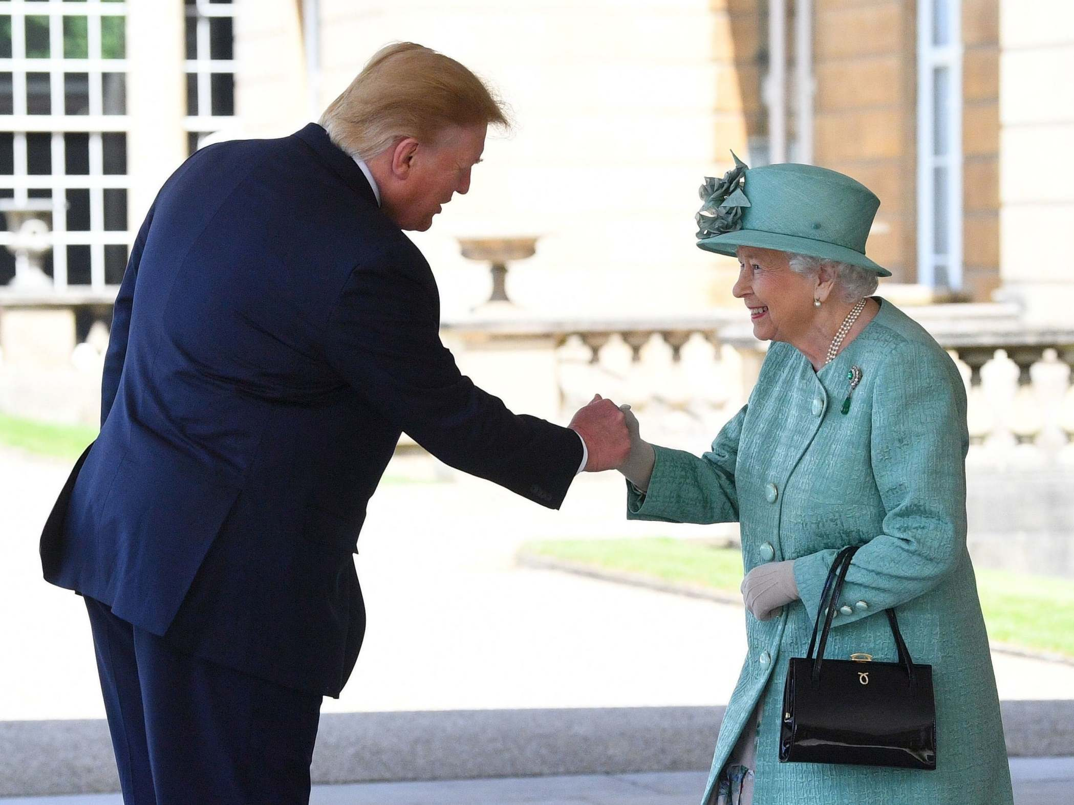Trump state visit: President gives Queen bizarre 'fist bump