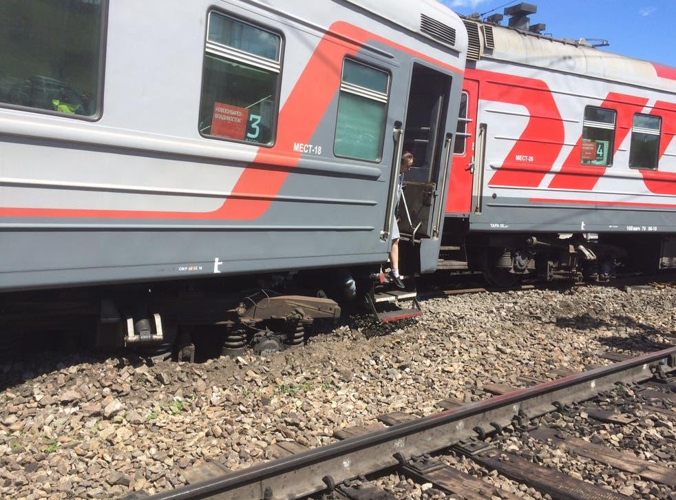 The Trans-Siberian rail derailment caused havoc
