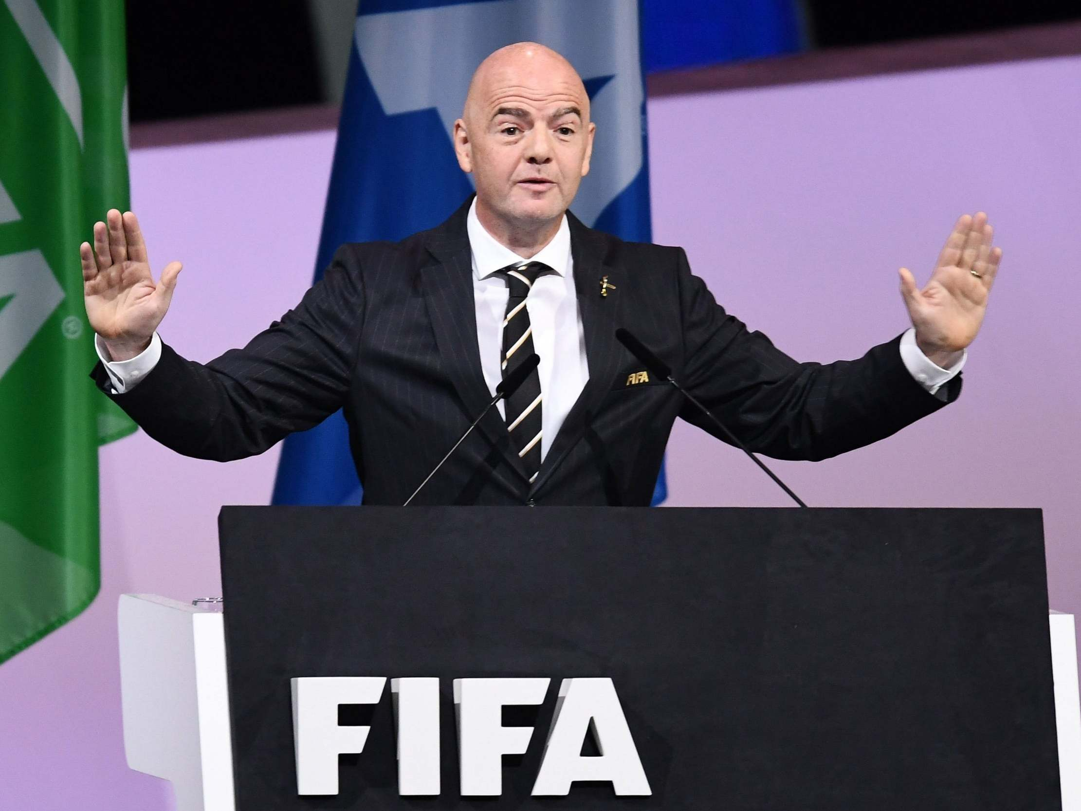 Fifa president Gianni Infantino demands 'stronger, more effective ways' to eradicate racism in football