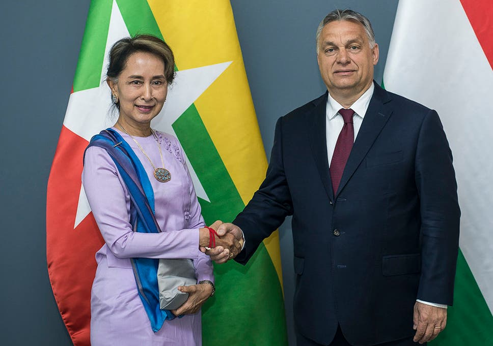 Orban says his people have great respect for Suu Kyi and 'all she has done for her country's democratic transformation'