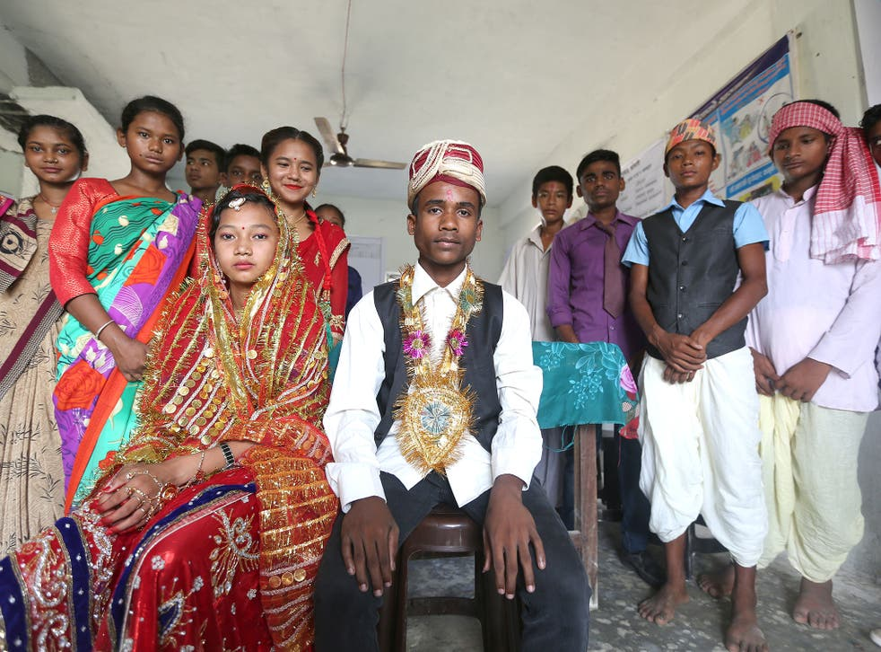 Adolescents in Gujara Municipality of Rautahat District in Nepal perform a skit on child marriage as part of UNFPA-Unicef Global Programme on Ending Child Marriage
