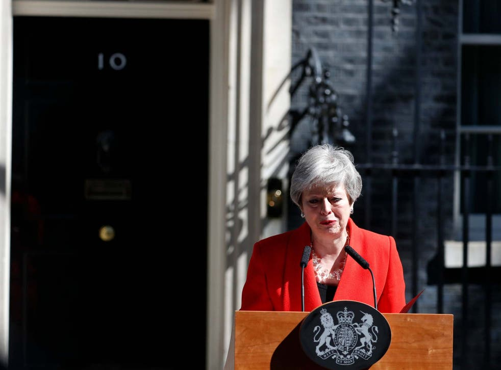 May stepped down as Tory leader on Friday and will serve as caretaker PM until her successor is chosen
