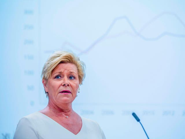 Finance minister and head of Norway's Progress Party Siv Jensen is facing revolt among grassroots members over its compromise on rising road tolls