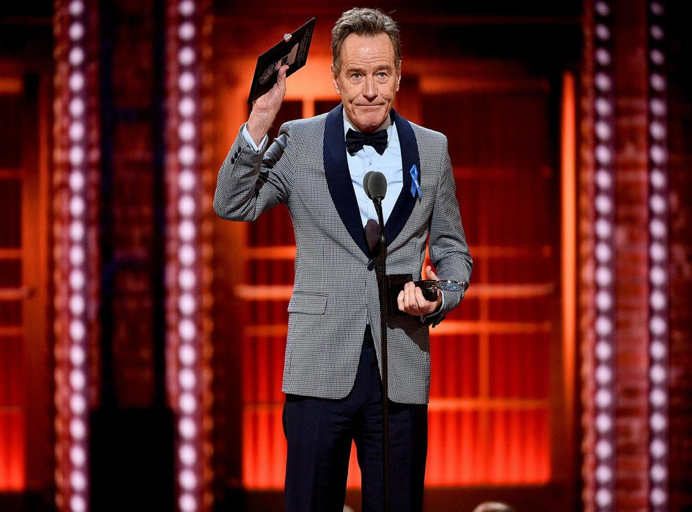 Bryan Cranston accepts the best performance by an actor in a leading role in a play for network onstage during the 2019 Tony Awards at Radio City Music Hall on 9 June, 2019 in New York City.