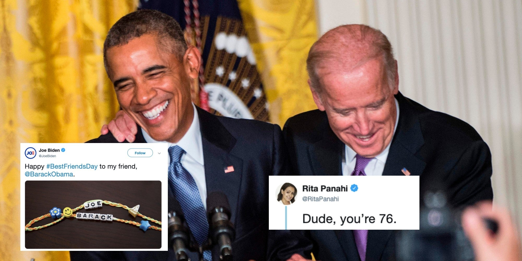2020 Us Election Joe Biden Shares Picture Of An Obama Friendship Bracelet Indy100