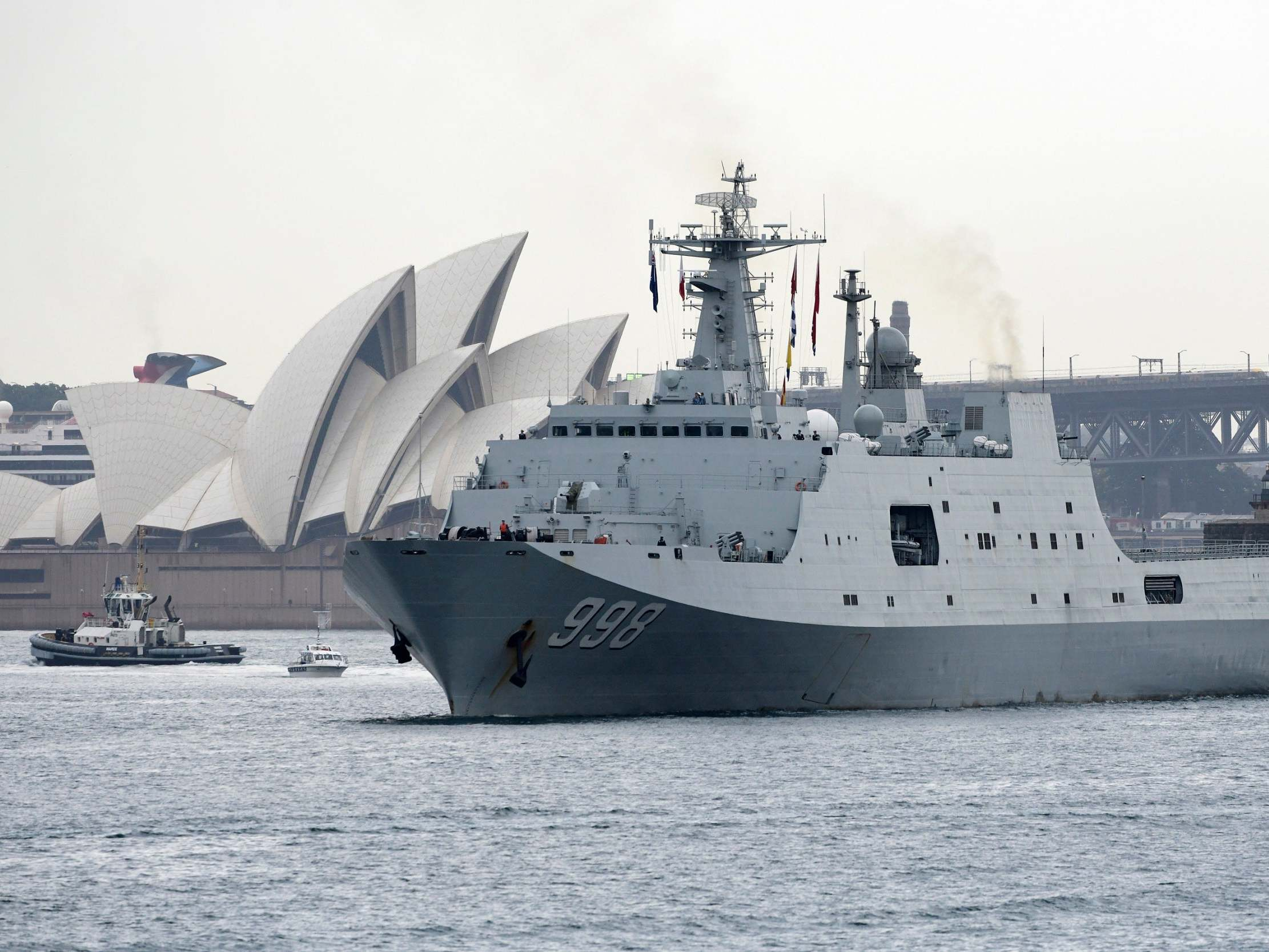 Chinese warships stop in Australia and buy up crates of baby