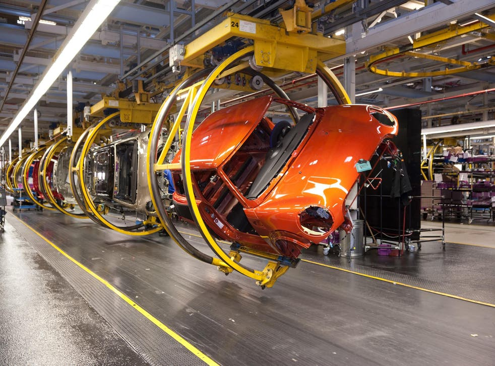 Early example of the new Mini being made at the factory at Cowley, Oxford