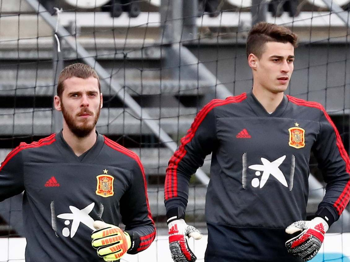 Image result for KEPA AND DE GEA SPAIN