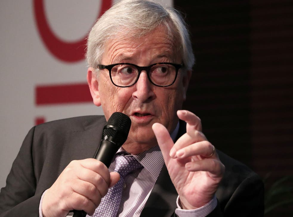 European Commission President Jean-Claude Juncker speaks during an interview in Brussels