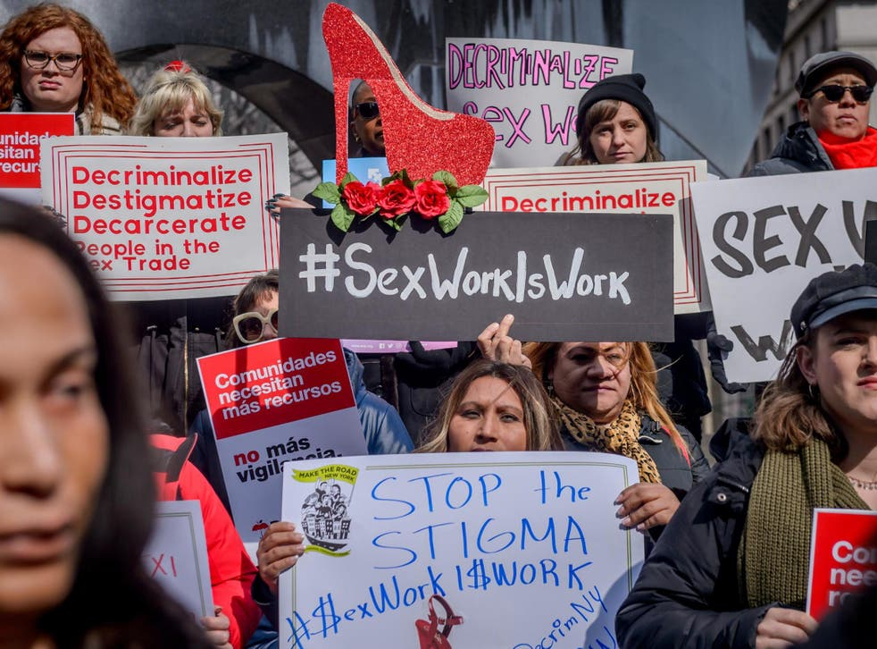 Feminist organisers, sex workers, anti-trafficking organisations and grassroots community groups stood alongside law-makers at city hall to unveil a proposal for decriminalisation in New York on Monday