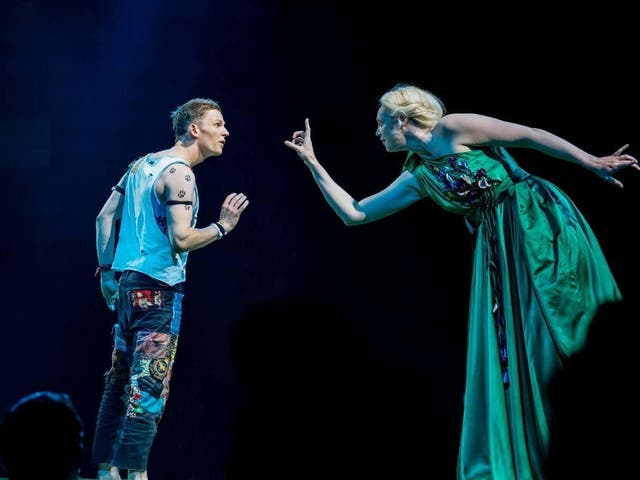 David Moorst and Gwendoline Christie in 'A Midsummer Night's Dream'