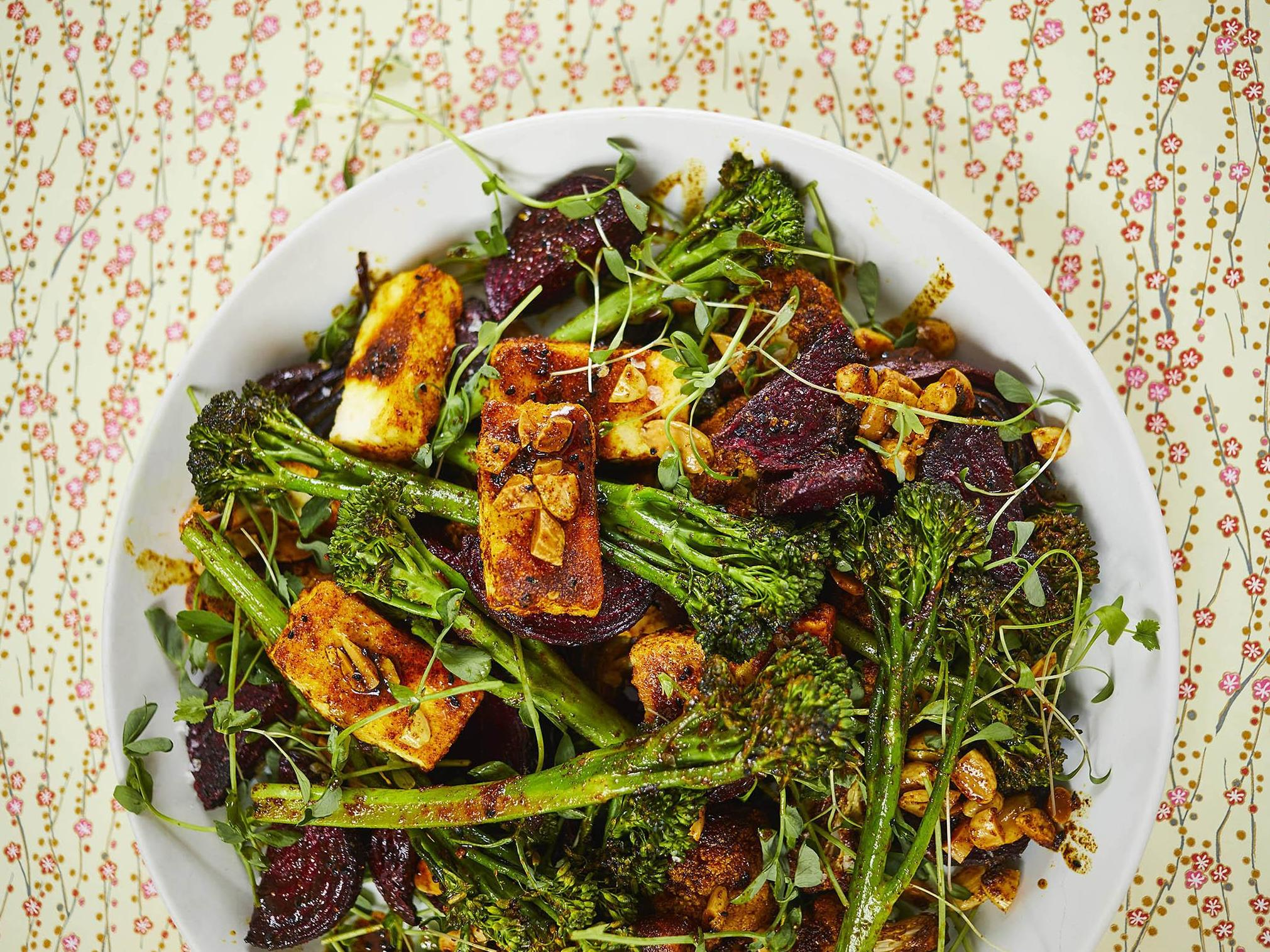 How to make Indian-spiced salad with tenderstem, paneer and beetroot 1