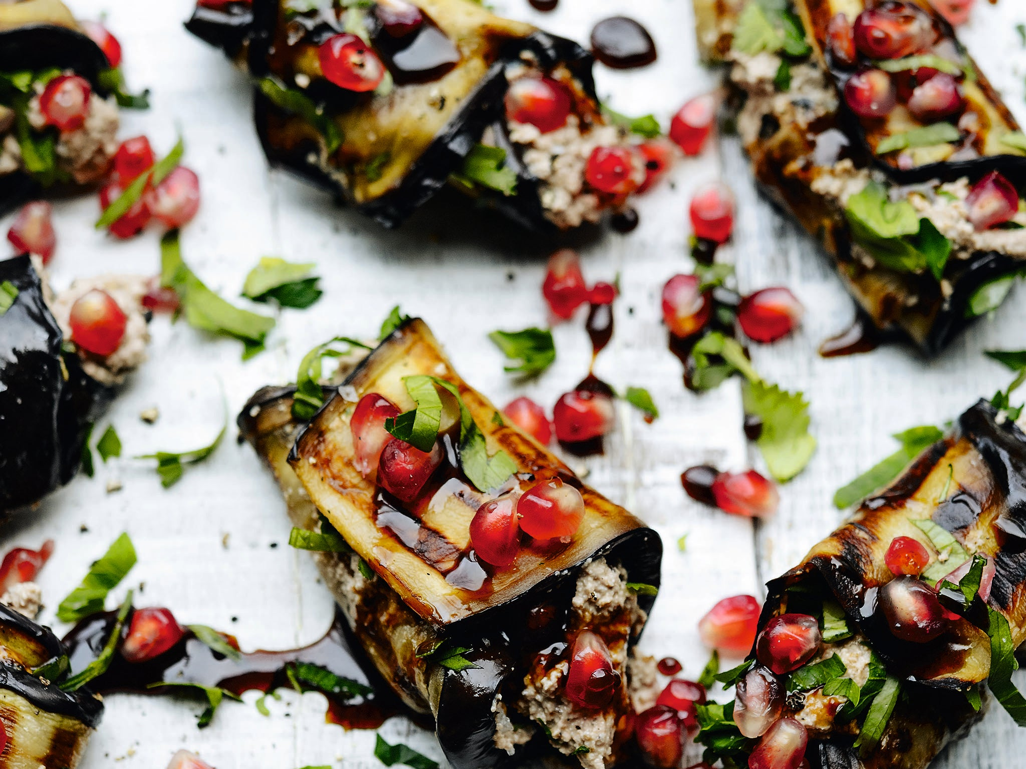 Charred cookbook: Vegetarian BBQ recipes from Georgian-style aubergine rolls to sweet potato and quinoa rosti