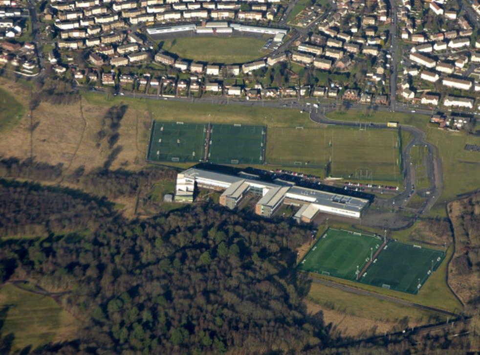 Buchanan and St Ambrose High Schools, centre, in Coatbridge